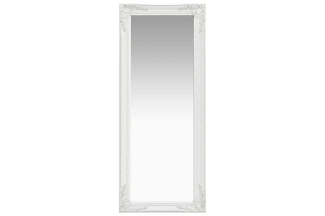 Veggspeil barokkstil 50x120 cm hvit - Innredning - Veggdekorasjon - Speil