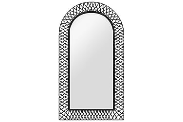 Veggspeil buet 60x110 cm svart