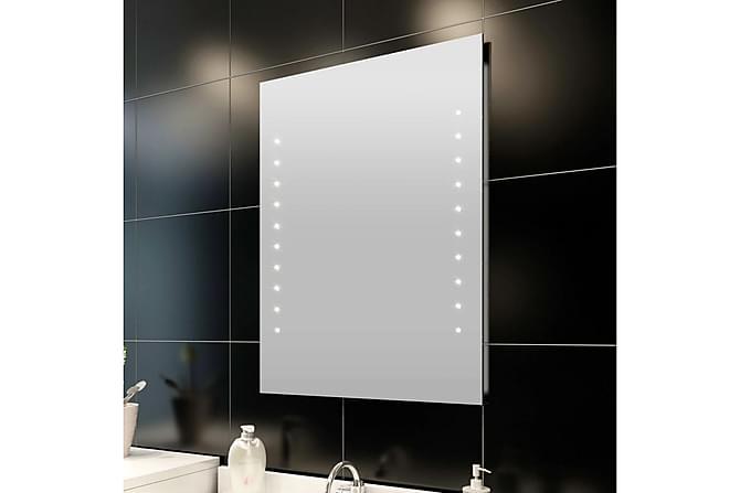 Veggspeil med LED-lys 50x60 cm LxH - Innredning - Veggdekorasjon - Speil