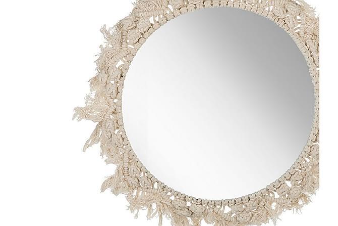 Yashley Speil 48 cm - Beige - Innredning - Veggdekorasjon - Speil