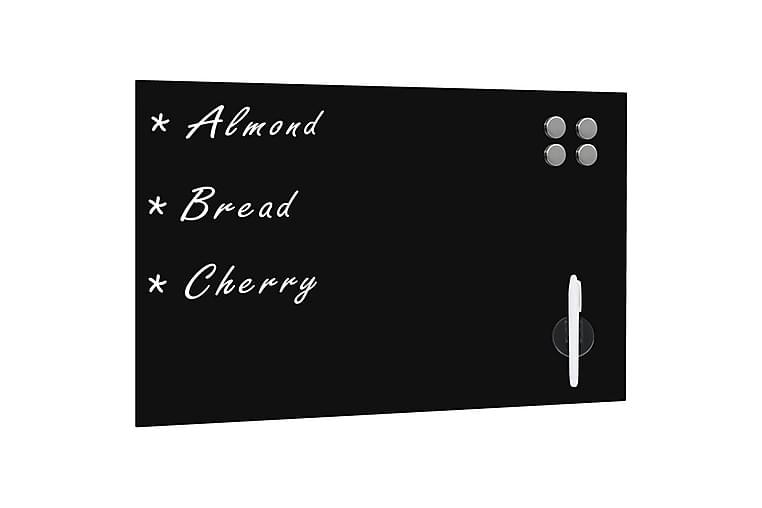 Veggmontert magnetisk tavle glass svart 60x40 cm - Svart - Innredning - Veggdekorasjon - Whiteboards & krittavler