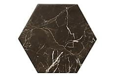 Gulvflis Hexagon Carrara Black 20x23