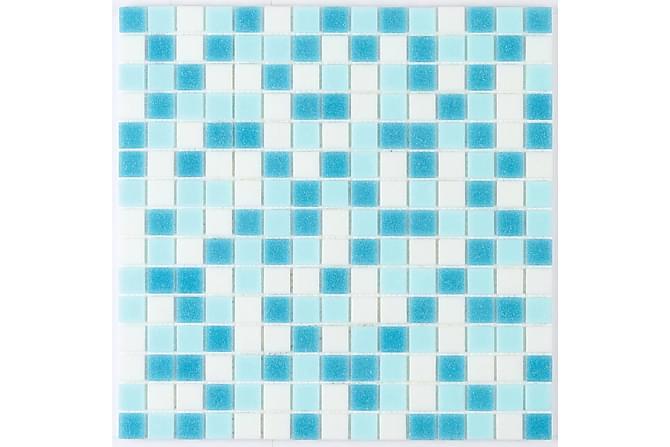 Glassmosaikk Azul 32,7X32,7 - Veggfliser & gulvfliser - Mosaikk - Glassmosaikk