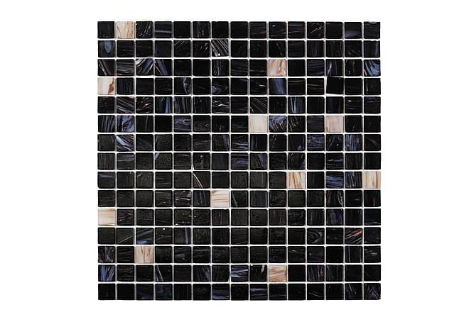 Glassmosaikk Dark Heaven White Gold 32,7X32,7 - Veggfliser & gulvfliser - Mosaikk - Glassmosaikk