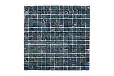 Glassmosaikk Petrol Gold 32,7X32,7
