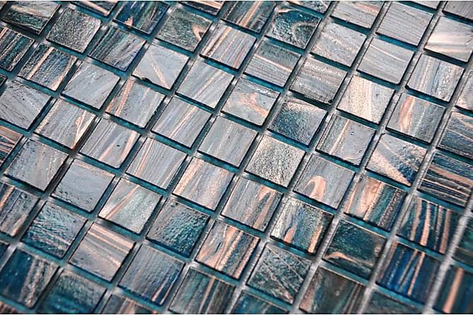 Glassmosaikk Petrol Gold 32,7X32,7 - Veggfliser & gulvfliser - Mosaikk - Glassmosaikk