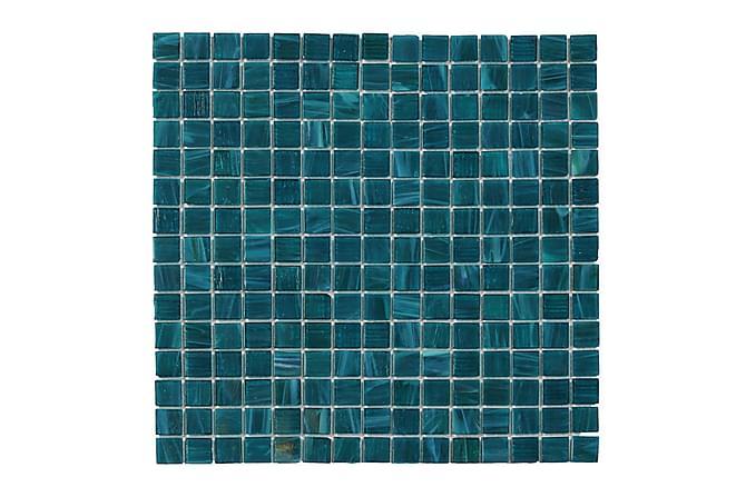 Glassmosaikk Petrol Mix 32,7X32,7 - Veggfliser & gulvfliser - Mosaikk - Glassmosaikk