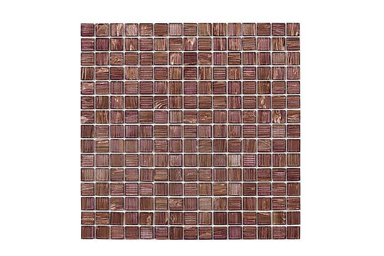 Glassmosaikk Purple Gold 32,7x32,7 - Veggfliser & gulvfliser - Mosaikk - Glassmosaikk