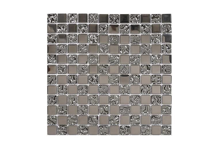 Krystallmosaikk Glow Sølv 30X30