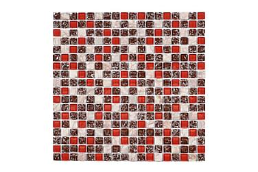 Krystallmosaikk Red Mix 30X30