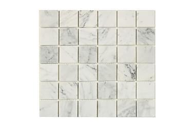 Mosaikk White Marble Grey 30X30