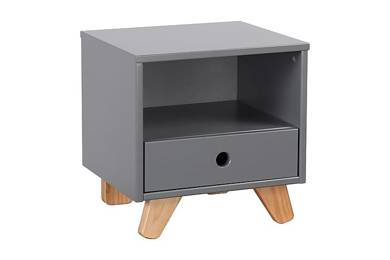 Dormagen BarnNattbord 40x13 cm - Tre/Grå - Møbler - Barnemøbler - Barnebord