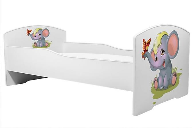 Marylynn Barneseng Elefantmotiv 70X140 - Brun Hvit Glass - Møbler - Barnemøbler - Barneseng & Juniorseng