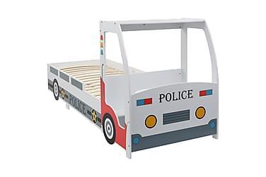 Politibil barneseng med skrivebord 90x200 cm