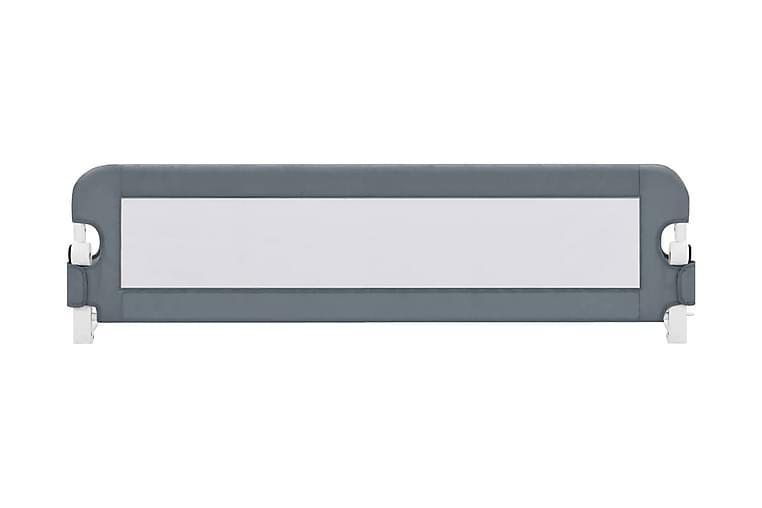 Sengehest småbarn grå 120x42 cm polyester - Møbler - Barnemøbler - Barneseng & Juniorseng