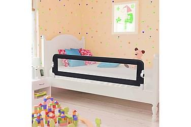 Sengehest småbarn grå 150x42 cm polyester