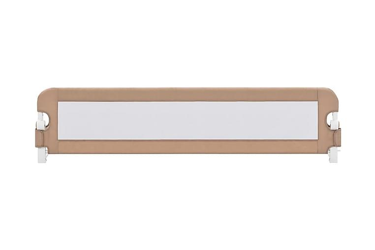 Sengehest småbarn gråbrun 180x42 cm polyester - Møbler - Barnemøbler - Barneseng & Juniorseng