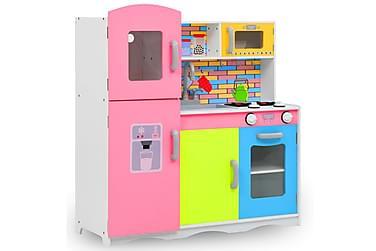 Lekekjøkken for barn MDF 80x30x85 cm flerfarget