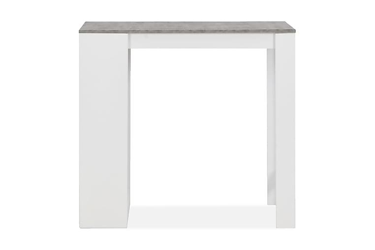 Barbord med hylle hvit 110x50x103 cm - Hvit - Møbler - Bord - Barbord & ståbord