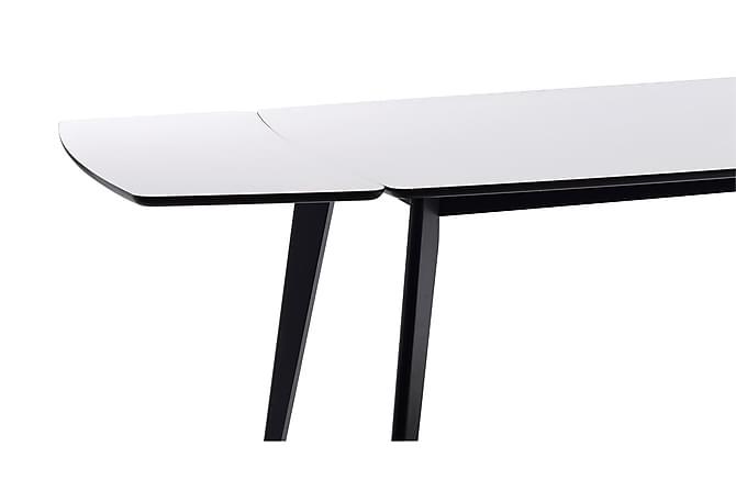 Aure Tileggsplate 45 cm - Hvit/Svart - Møbler - Bord - Bordben & tilbehør
