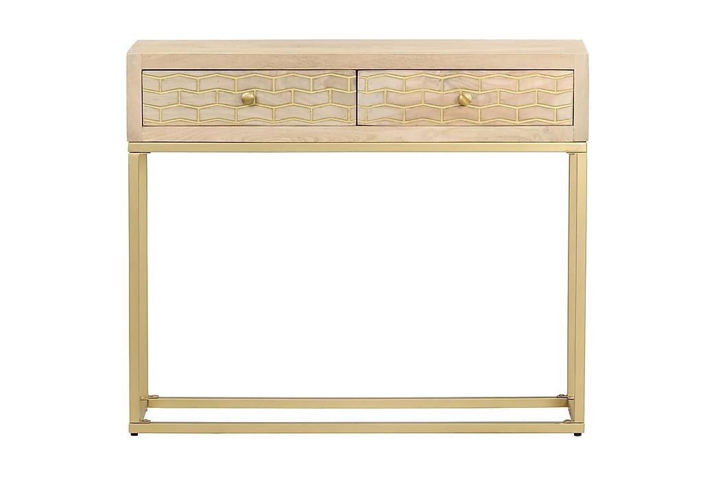 Konsollbord gull 90x30x75 cm heltre mango - Møbler - Bord - Konsollbord & avlastningsbord