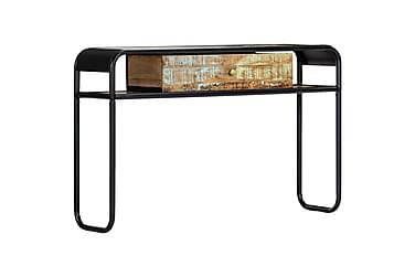 Konsollbord 118x30x75 cm gjenvunnet heltre