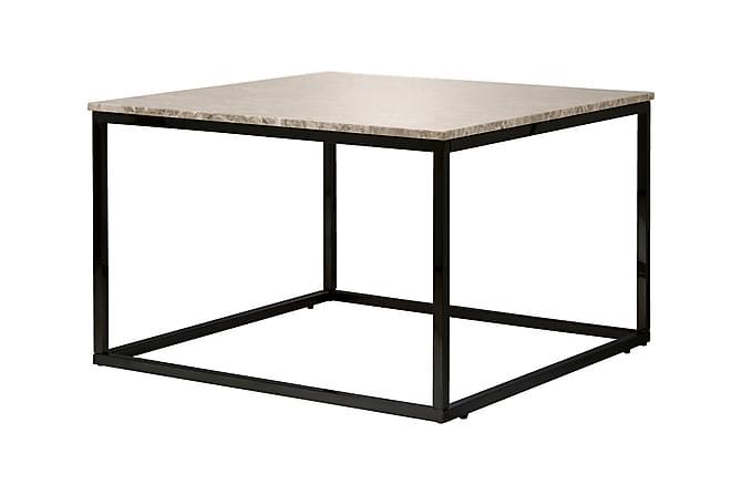 Carrie Sofabord 70 cm Marmor - Beige/Svart - Møbler - Bord - Marmorbord