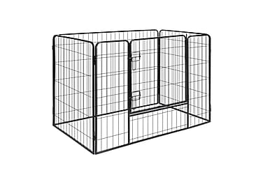 Hundegrind 4 paneler stål