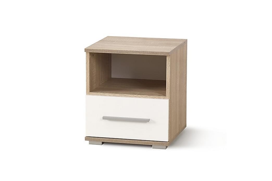 Lima Nattbord 1 Skuff - Eik/Hvit - Møbler - Bord - Sengebord & nattbord