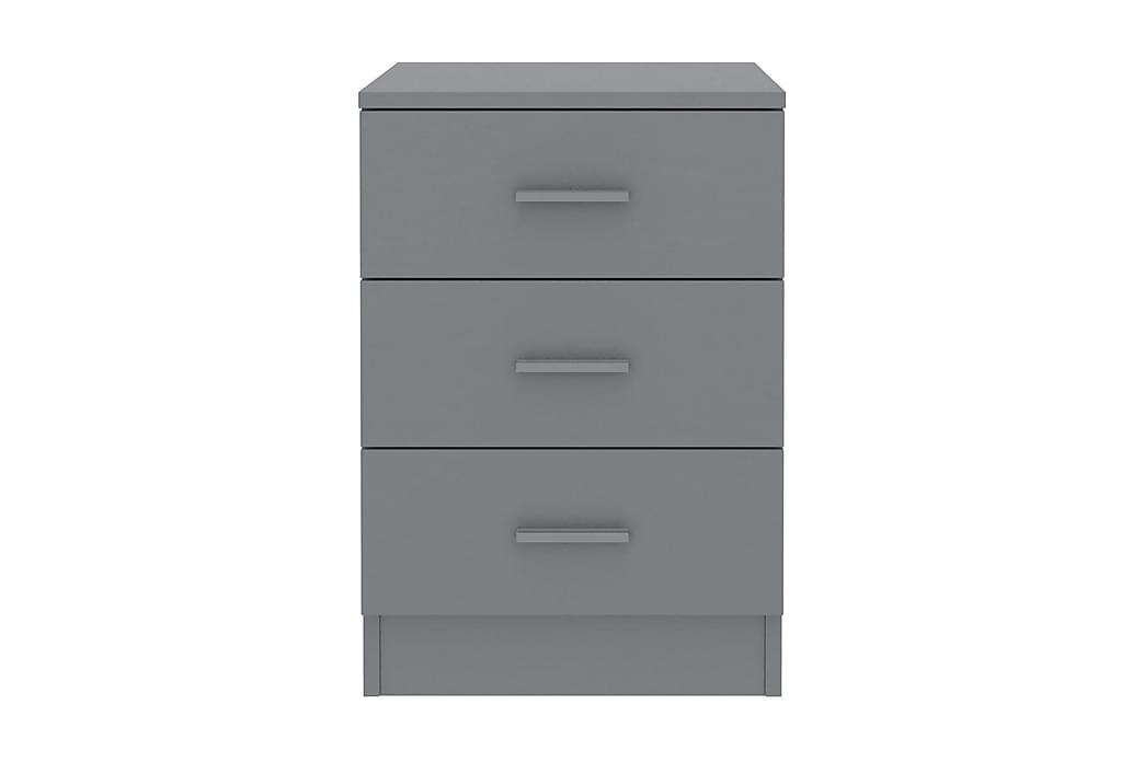 Nattbord 2 stk grå 38x35x56 cm sponplate - Grå - Møbler - Bord - Sengebord & nattbord