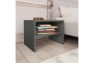 Nattbord 2 stk grå 40x30x30 cm sponplate