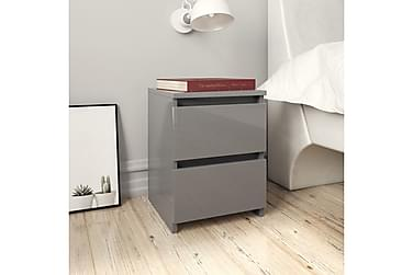 Nattbord høyglans grå 30x30x40 cm sponplate