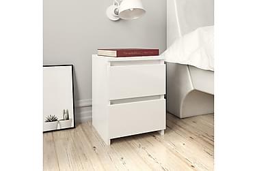 Nattbord høyglans hvit 30x30x40 cm sponplate