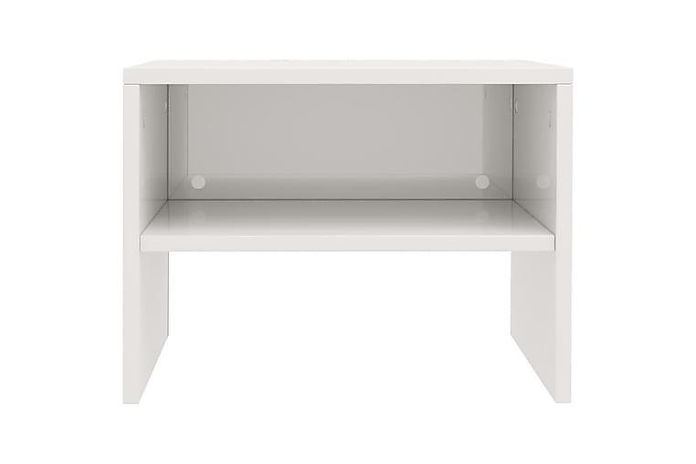 Nattbord høyglans hvit 40x30x30 cm sponplate - Hvit - Møbler - Bord - Sengebord & nattbord