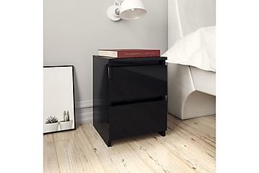 Nattbord høyglans svart 30x30x40 cm sponplate