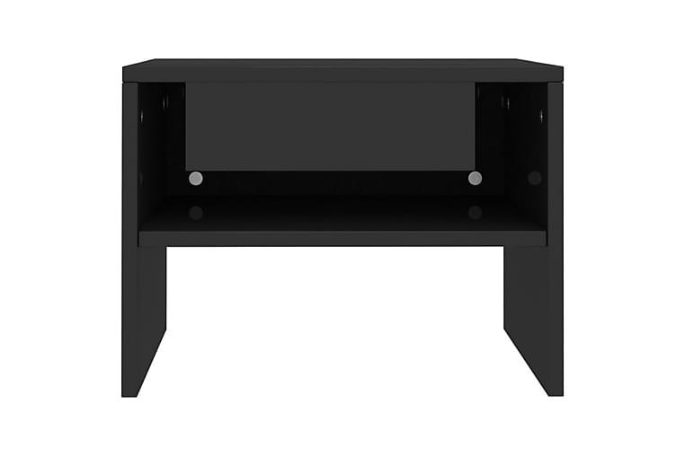 Nattbord høyglans svart 40x30x30 cm sponplate - Svart - Møbler - Bord - Sengebord & nattbord