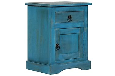 Nattbord heltre mango 40x30x50 cm blå