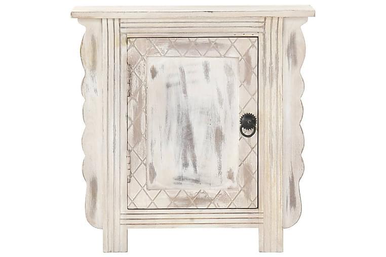 Nattbord hvit 50x30x50 cm heltre mango - Hvit - Møbler - Bord - Sengebord & nattbord