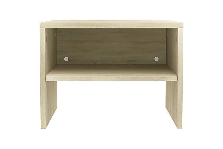Nattbord sonoma eik 40x30x30 cm sponplate - Brun - Møbler - Bord - Sengebord & nattbord