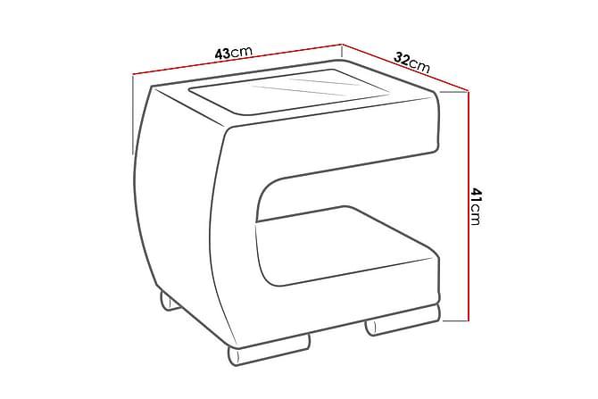 Stolik Nattbord 43x32x41 cm - Møbler - Bord - Sengebord & nattbord