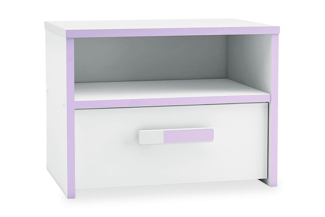 Violia Nattbord 43 cm - Hvit/Lilla - Møbler - Bord - Sengebord & nattbord
