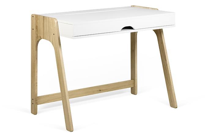 Aldors Skrivebord 94 cm - Hvit/Tre/Natur - Møbler - Bord - Skrivebord