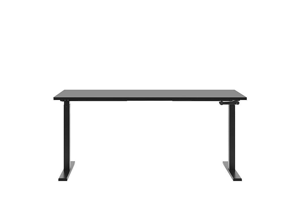 Belluton Skrivebord 180 cm Manuell Justerbar - Svart - Møbler - Bord - Skrivebord