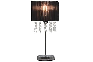 Bordlampe svart rund E27