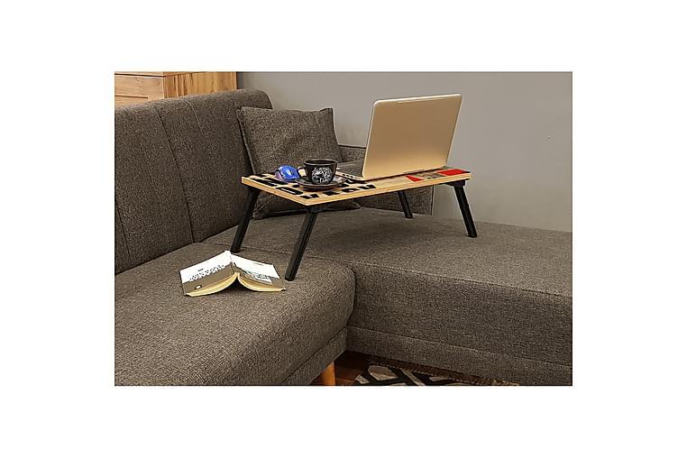 Bourdeau Laptoppbord 25 cm - Tre / Natur / Svart - Møbler - Bord - Skrivebord