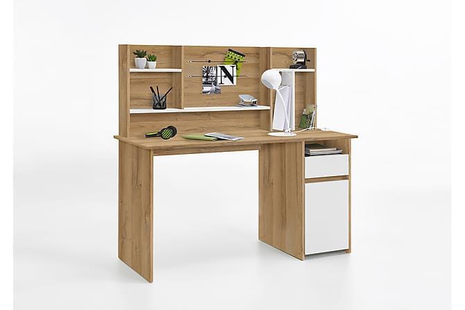 Cambridge Skrivebord 135 cm - Hvit/Eik - Møbler - Bord - Skrivebord