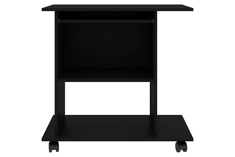 Databord svart 80x50x75 cm sponplate - Møbler - Bord - Skrivebord