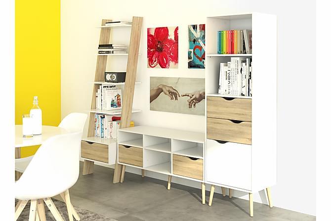 Delta SkrivebordsHylle 65 cm - Hvit/Eik - Møbler - Bord - Skrivebord