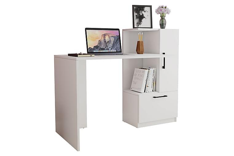 Flavit skrivebord 125 cm - Hvit - Møbler - Bord - Skrivebord