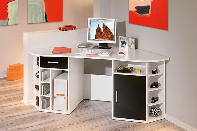 Isolde Hjørneskrivebord 181 cm - Svart/Hvit - Møbler - Bord - Skrivebord